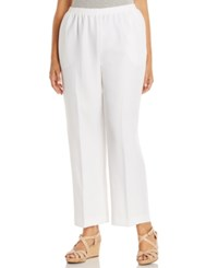 Alfred Dunner Plus Size Pull On Straight Leg Pants White