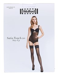 Wolford Touch 20 Den Stay Up Satin Stockings White