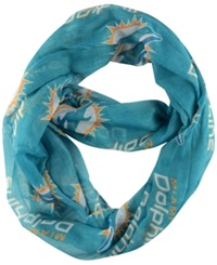 Little Earth Miami Dolphins Sheer Infinity Scarf