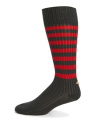 Gucci Lazy Royal Striped Socks Navy Red Green Bottle Red