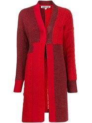 Mcq By Alexander Mcqueen Patchwork Knit Cardigan Red
