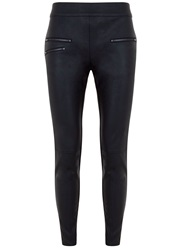 Mint Velvet Black Leather Look Legging