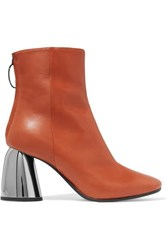 Ellery Leather Ankle Boots Brown