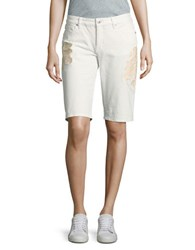 Miraclebody Jeans Faith Bermuda Slim Fit Shorts White