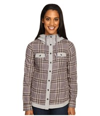 Marmot Reagan Flannel Long Sleeve Winter Stone Women's Long Sleeve Button Up Taupe