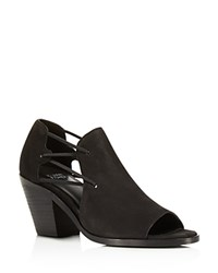 Eileen Fisher Nikki Mid Heel Open Toe Booties Black