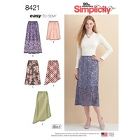 Simplicity Women's Skirt Sewing Pattern 8421