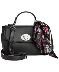 Giani Bernini Top Handle Flap Crossbody With Scarf Only At Macy's Black