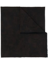 Z Zegna Camouflage Knitted Scarf 60