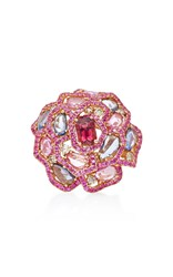 Wendy Yue Pink Sapphire Flower Ring