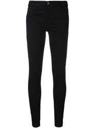 Gucci Tiger Embroidered Skinny Jeans Black