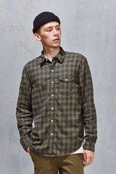Cpo Grindle Gigham Button Down Shirt Olive