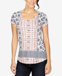 Lucky Brand Printed High Low T Shirt Multi