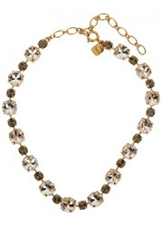 Ca And Lou Victoria Crystal Embellished Necklace Gold