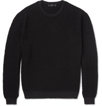 Calvin Klein Collection Raiger Textured Knit Wool Sweater Black