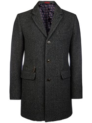 Ted Baker Halamo Overcoat Grey