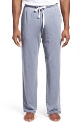 Daniel Buchler Men's Washed Cotton Blend Lounge Pants Blue