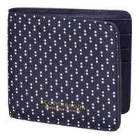 Scotch And Soda Polka Dot Leather Wallet Navy White