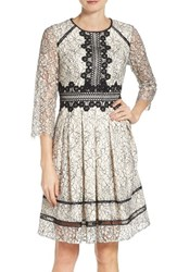 Eliza J Women's Lace Fit And Flare Dress
