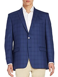 Calvin Klein Plaid Wool Sportcoat Blue