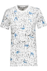 Carven Printed Stretch Cotton T Shirt White