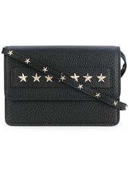 Red Valentino Star Studded Crossbody Bag Women Calf Leather Metal Other One Size Black