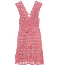 Anna Kosturova Jennifer Cotton Crochet Dress Pink