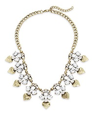 Jules Smith Designs Cube And Gem Glitz Statement Necklace Goldtone