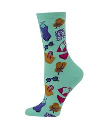 Hot Sox Beach Clothes Printed Socks Mint