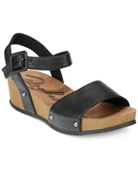 Rocket Dog Gem Footbed Platform Wedge Sandals Women's Shoes Black
