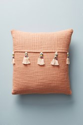 Anthropologie Varied Tassel Pillow Orange