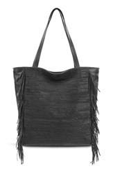 Elliott Lucca 'All Day' Leather Tote Black Black Melaya