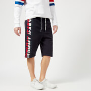 Tommy Jeans Men's Graphic Basketball Shorts Black Iris Blue