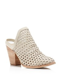 Dolce Vita Hudson Woven Mule Booties Ivory