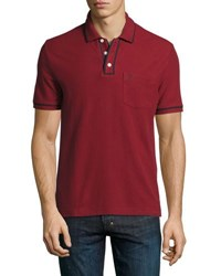 Original Penguin Earl Contrast Trim Cotton Polo Shirt Red