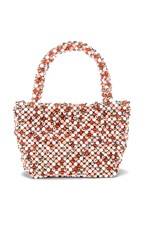 Loeffler Randall Mina Beaded Tote In Pink. Blush And Multi