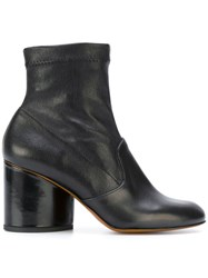 Robert Clergerie Koss Ankle Boots Calf Leather Lamb Skin Leather Rubber Black
