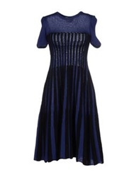 Andrea Incontri Knee Length Dresses Dark Blue