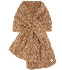 Loro Piana Chevril Baby Cashmere Knitted Scarf Brown