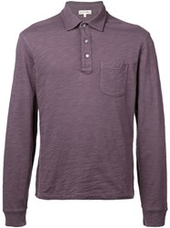 Alex Mill Rugby Polo Top Purple