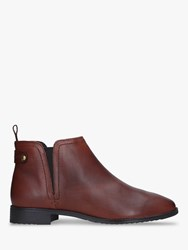 Carvela Comfort Rexx Leather Chelsea Boots Brown Tan