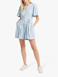 French Connection Julienne Playsuit Sky Blue