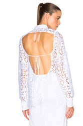 N 21 No. 21 Lace Open Back Top In White