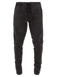Greg Lauren Panelled Denim Track Pants Black