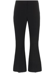Alexander Mcqueen Cropped Kick Flare Tie Detail Trousers Black
