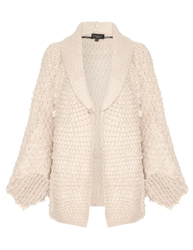 Aftershock Jaciby Chunky Knit Cape Cardigan Nude