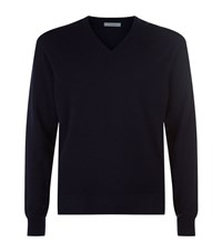 Malo V Neck Cashmere Jumper Male Navy