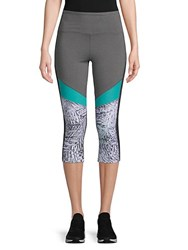 Marika Ava Palm Capri Leggings Heather Charcoal