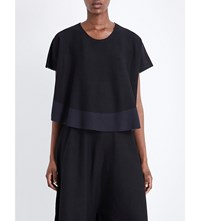 Issey Miyake Berry Cotton Blend Top Black