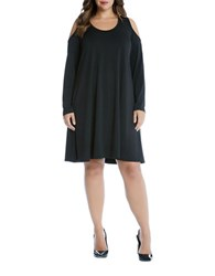 Karen Kane Plus Cold Shoulder Trapeze Dress